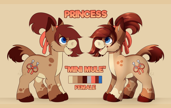 Reference} Princess the Mini Mule by CaptnElle