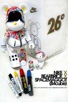nike x bearbrick x spacemaggot by spacemaggot