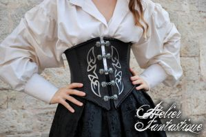 Zinzerena leather and steel corset by AtelierFantastique