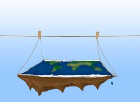 Earth on a clothes-line by pollo12321