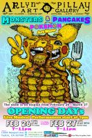monsters-pancakes-and-pokemon-flyer-Front by ArlynPillay