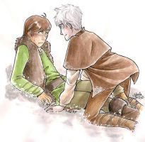 ...can you get off me now? - Hiccup and Jack by Marine-chan