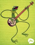 Kermit with a Banjo by paperbeatsscissors