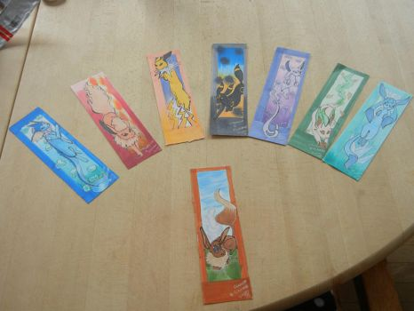 Bookmarks: Eevee and the 'lutions by ToonTard
