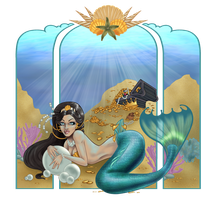 Covetous Pisces by GreenieGurl (colored) by carol-colors