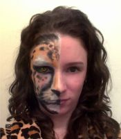 Cheetah Face Paint by SilverWolfCostuming