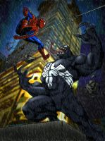 Spidey VS Venom by ZethKeeper