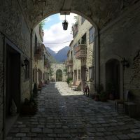 Old World Alley by Cad64