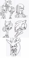Commission: SEGA Coloring Pages by Nine-MileStudios