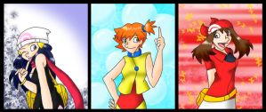 PKMN - Dawn + Misty + May by chikisingergrl