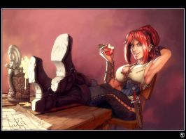 Pirate babe, how original by RobertFriis