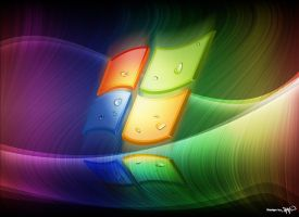 Windows rainbow wallpaper by Ornorm