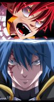 Fairy Tail 364 -natsu and jellal by sAmA15