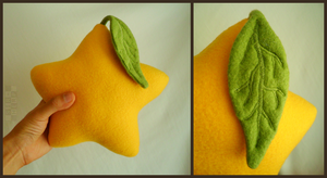 SALE   Paopu Plushie with Posable Leaf (v2) by Sir-Herp
