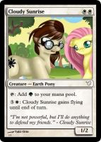 Cloudy Sunrise Magic Card by Awesome-Cloud