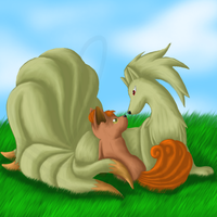 Vulpix and Ninetails by SinLigereep