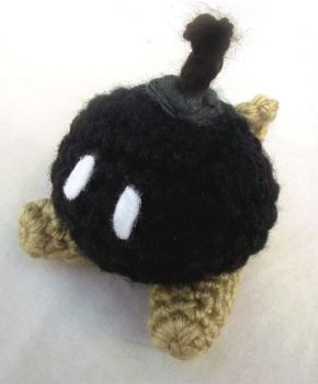 Bob-omb plushie by DrowsyDoormouse