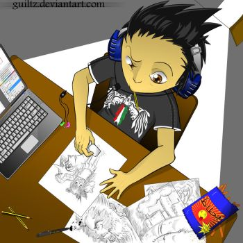 Drawing -colored- by guiltz