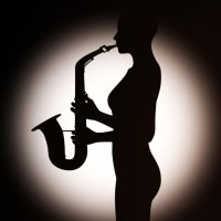 Saxophone Silhouette by Tangent101
