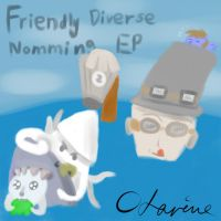 Request - Cover art - Friendly Diverse Nomming EP by Zhooves