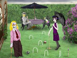 Beetlejuice Croquet Party. by ForeverKnight