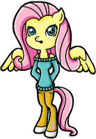 Anthro Fluttershy by FlameFyre1235