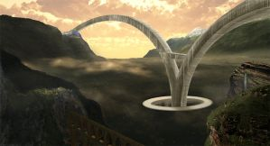 Arches Matte Painting by Pipera