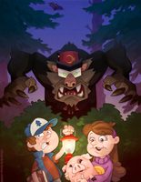 Gravity Falls - Big Bad Grunkle Stan by WonderDookie