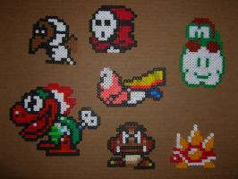 Mario bros bead baddies 1 by zaghrenaut