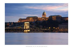 Buda Castle by night by DimensionSeven