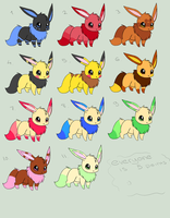 Eevee adopt Batch by Cheap-Adopts-for-you