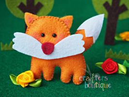 Little Cutie Felt Foxy by CraftersBoutique
