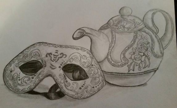 Mask And Teapot by Ringo-the-mouse