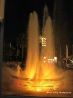 Lit Fountain by aaron-sprig