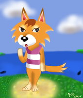 Animal Crossing: Chief the Wolf by YoshiGamerGirl