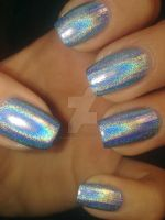Holographic nail polish by bl00dflowerz