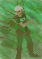 Spitpaint 002: Warrior Fairy by selkie-gal