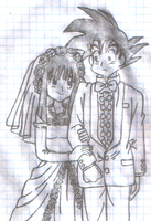 Goku and Chi Chi's Wedding Photo by PrettySoldierPetite