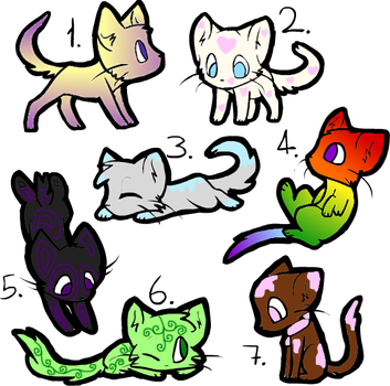 Cat Adoptables (4/7 OPEN) by TwilightSparklefairy