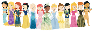 Disney Princesses by KatNap8181