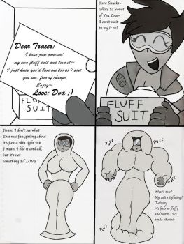 Tracer's Fluff Suit pg.1 by BigBillHill