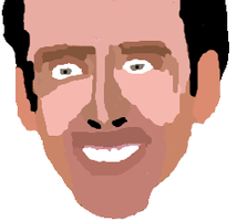 Nick Cage number 1 fanart by Pizzaroo