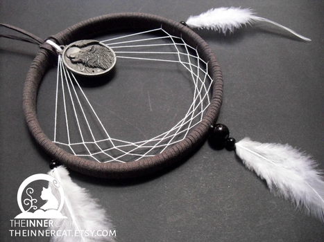 Moon Howling Wolf Dream Catcher by TheInnerCat