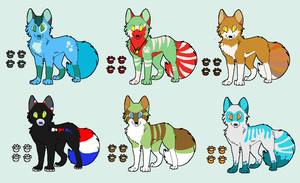wolves adoptable by zcherozrodesidz