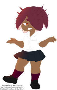 [BnHA OC] Little sea urchin by Amadere