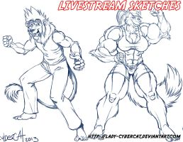 Sept Livestream Sketch Commissions 6 by lady-cybercat