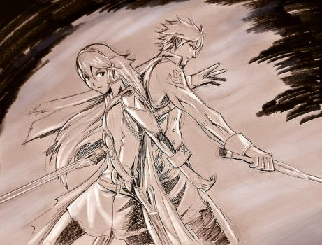 Lucina and Chrom from Fire Emblem by LandonFranklin