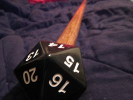 D20 Walking Stick by paintmeaperfectworld