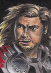 Thor Sketch Card by KuddlyFatality