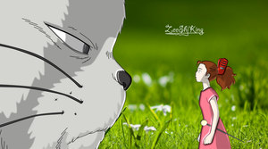 Arrietty and Cat by ZeeShiKing